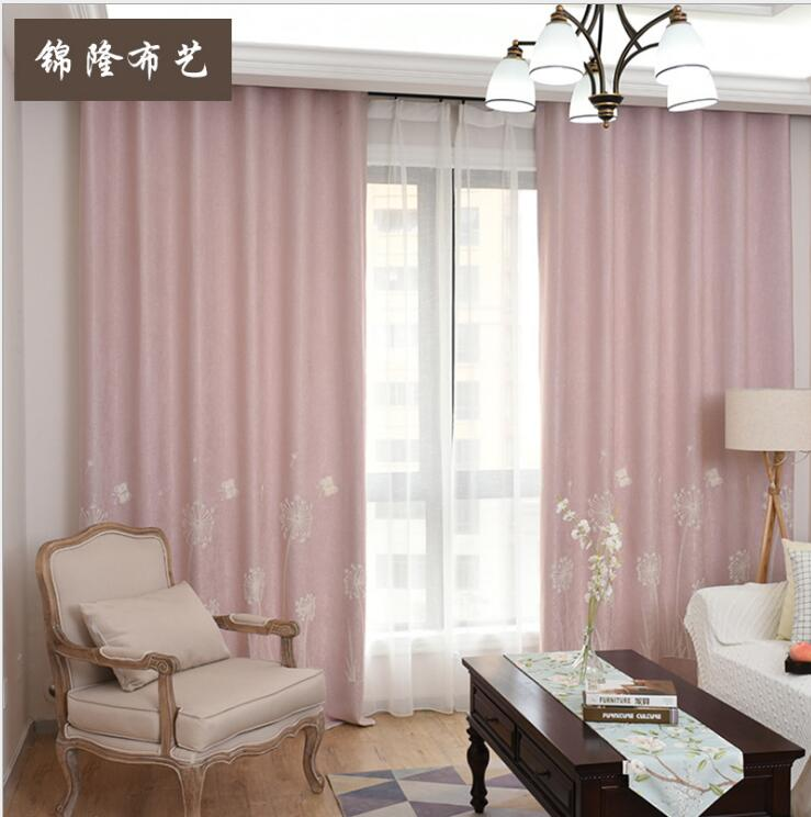 US $49.56 41% OFF Dandelion embroidery Curtains For Living Room Luxury  Jacquard Blind Drapes Window Panel Fabric Curtain For Bedroom Shading 70%  C-in ...