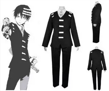 Free shipping Anime New Arrival Soul Eater Death the Kid Cosplay Costume