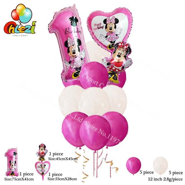 US $4.5 |Neue 13 teile/lose Minnie Maus Kombination anzug ballons  geburtstag party dekoration latex ballons baby präsentiert kid spielzeug in  Neue 13 ...