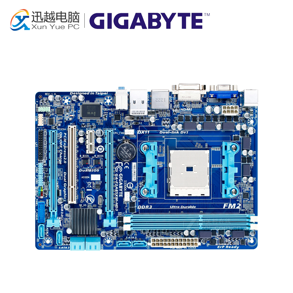 Gigabyte GA-F2A85XM-HD3 Desktop Motherboard F2A85XM-HD3 A85X FM2 DDR3 USB3.0 Micro ATX материнская плата пк gigabyte ga h270 hd3 ga h270 hd3