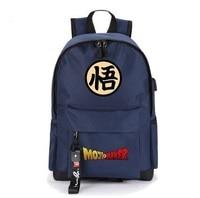High Q Unisex Japanese Anime dragon ball USB charge Cosplay Bookbag Backpack Shoulder Bag School Bag