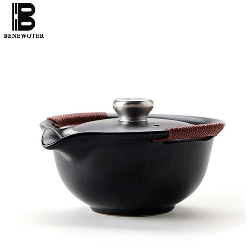 Креативный 110 мл японский стиль керамическая грубая керамика серебро украшенный чайник искусство работы чайный набор кунг фу чайник Gaiwan чаша для чая