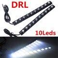 1 Par 10 LED de Coche Universal 10LED 10 W Coches Daytime Luz corriente DRL Niebla Decorativo Lámpara de ojos de águila Led Auto 12 V