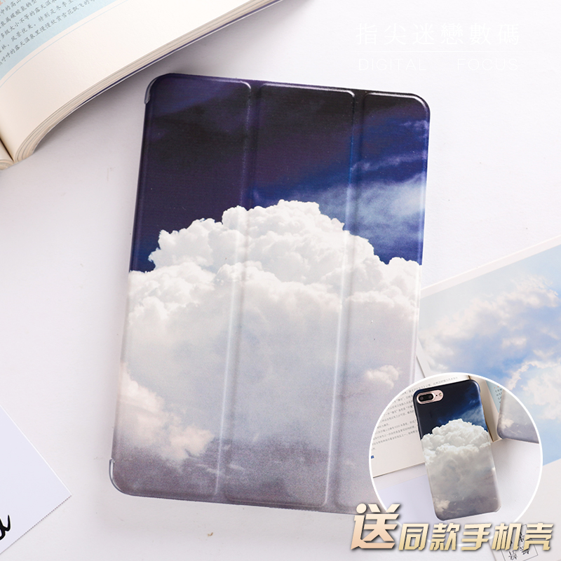 все цены на  For New iPad 9.7 2017 Blue Sky Cloud Flip Cover For iPad Pro 9.7