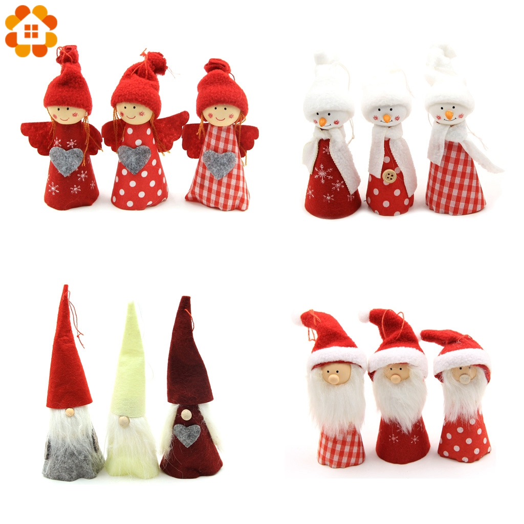 Cute Christmas Party.Us 1 13 30 Off 1pc Cute Snowman Santa Claus Angel Christmas Hanging Doll For Home Christmas Party Xmas Tree Ornaments Kids Gifts Decorations In
