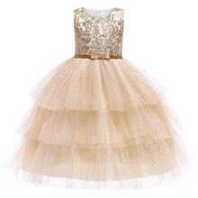b879c2e208 Hot Sale Baby Girl Princess Ball Gown Dress Flower Lace Children Bridemaid  For Wedding Party Prom Dresseschildren Clothing Bos.