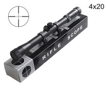 4x20 Hunting Riflescopes Holographic Sight Tactical Optics Airsoft Air Guns Shooting Scopes Sniper Reticle Pistol Reflex Sight(China)
