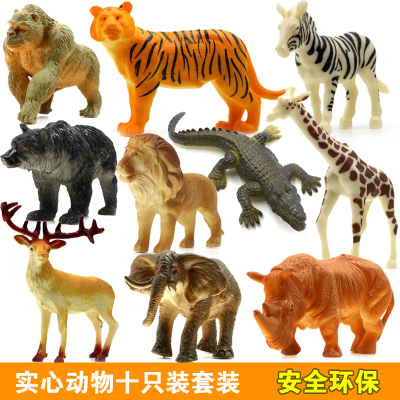Small wild animal figures mini plastic toy for kid boy wild animal model set cheap jungle wildlife miniature cartoon figurine mr froger carcharodon megalodon model giant tooth shark sphyrna aquatic creatures wild animals zoo modeling plastic sea lift toy