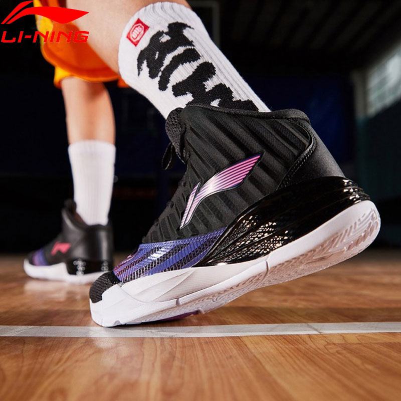 Li-Ning Men STORM On Court Basketball Shoes Cushion Bounce LiNing CLOUD TUFF RB Wearable Sport Shoes Sneakers ABPP003 XYL227 slip-on shoe