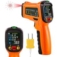 Non Contact Infrared Thermometer Digital Laser PM6530D 50 800C Themperature Pyrometer IR Laser Point Gun For Industry home use