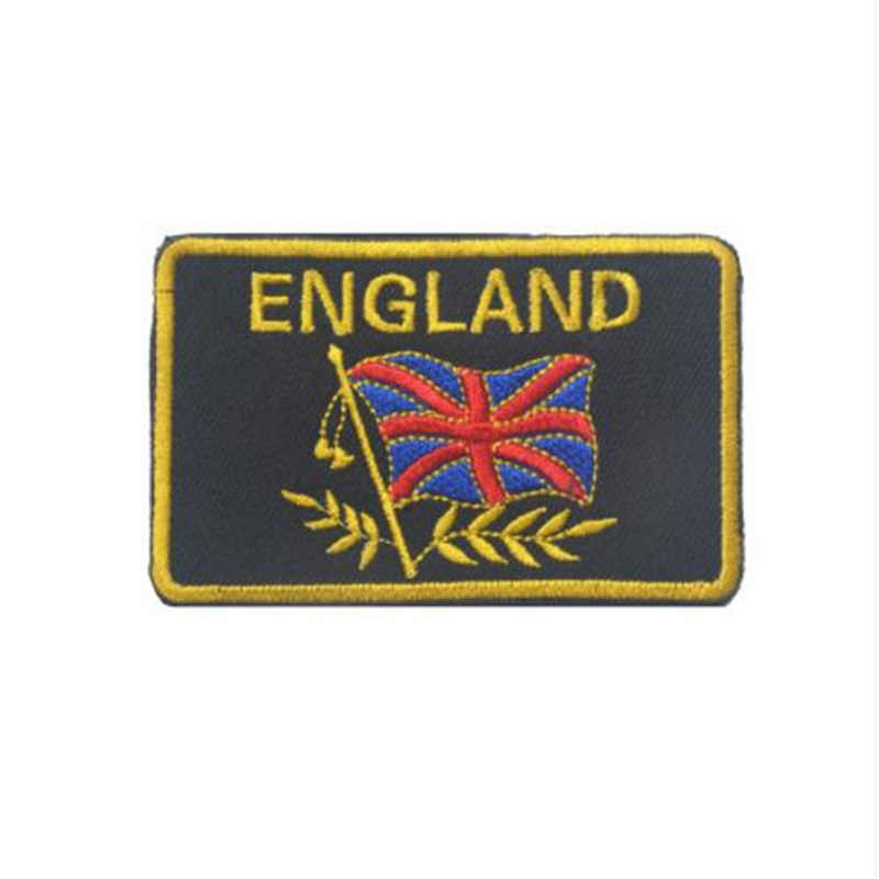 Pamiątki sportowe patche wojskowe taktyczne haftowane Patch anglia brytyjski wielkiej brytanii flaga wielkiej brytanii przypinki do ubrań torba
