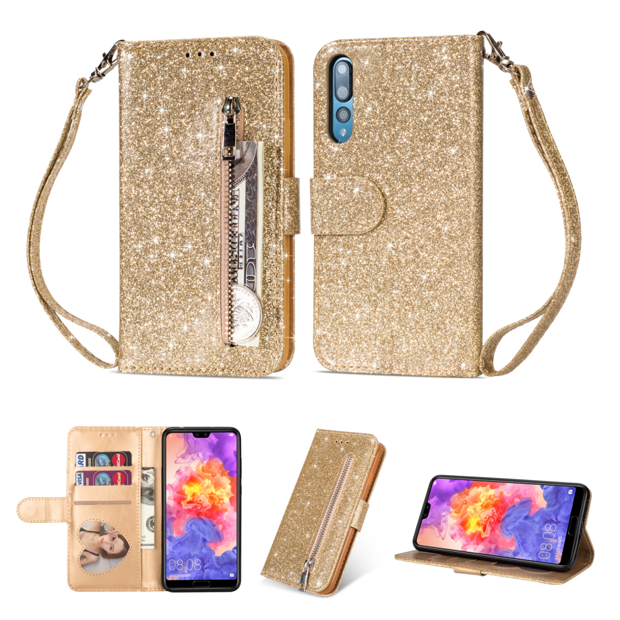 NEW Luxury Glitter Wallet Flip Case For Huawei P20 Lite Pro Card Leather Holder Phone Cover For HUAWEI mate 10 Pro 20 lite CaseNEW Luxury Glitter Wallet Flip Case For Huawei P20 Lite Pro Card Leather Holder Phone Cover For HUAWEI mate 10 Pro 20 lite Case