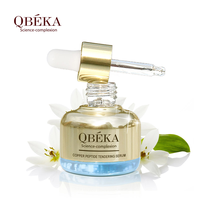 QBEKA Copper Peptide Tendering Serum Anti Aging Vitamin C Skin Care Facial Essence Anti Wrinkle Face Serums With Hyaluronic Acid
