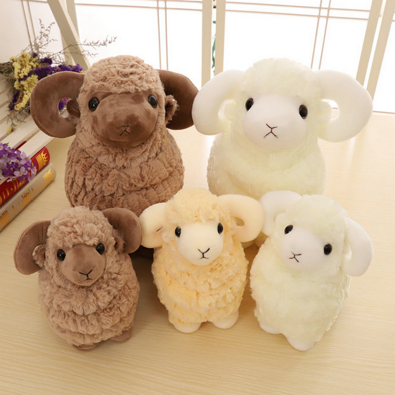 25cm/38cm/42cm Sheep Plush Toys Simulation Stuffed Animal Soft Doll Real Life Plush Sheep Toys For Children Baby Kids Gift welcome customer apron sheep alpaca maid servant plush toy stuffed doll gift for baby kids children girlfriend baby present