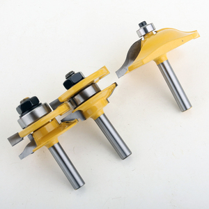 Image 2 - 3 PZ 8mm Shank Router Porta Dellarmadio Quadro di alta qualità Alzata La Lavorazione Del Legno cutter lavorazione del legno router Bit Set 3 Po Ogee bit