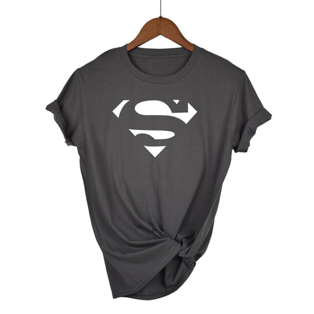 Kawaii T-Shirt Tops Short-Sleeve Slim-Fit Superman-Series Hot-Sale Cartoon Summer Fashion-Brand