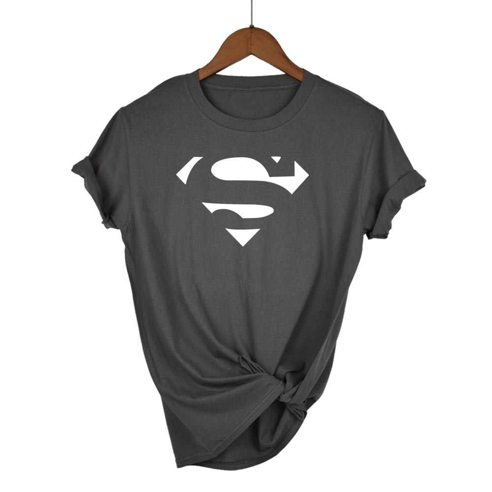 Zomer Superman Serie Cartoon kawaii t-shirt damesmode merk slim fit tops hot koop korte mouw o-hals t-shirt vrouwen