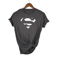 Летняя футболка с рисунком Супермена kawaii, женская модная брендовая облегающая футболка, хит продаж, футболка с круглым вырезом и коротким р...