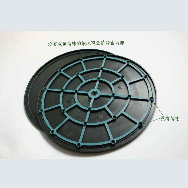 1PC/LOT 400*16MM Double Shiny Sides HDPE Plastic Swivel Plate Lazy Susan For Shooting/Display/Working Table 50KGS Holding