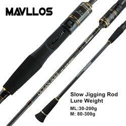 Mavllos powolne Jigging wędka C.W. 30 200g/80 300g ultralekka wędka castingowa o wysokiej zawartości węgla Spinning 45cm w Wędki od Sport i rozrywka na