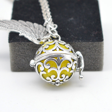5pcs Angel Wings Necklace engelsrufer Bola Pendant Aromatherapy Lockets Essential Oil Diffuser Necklace Perfume Locket XSH-102