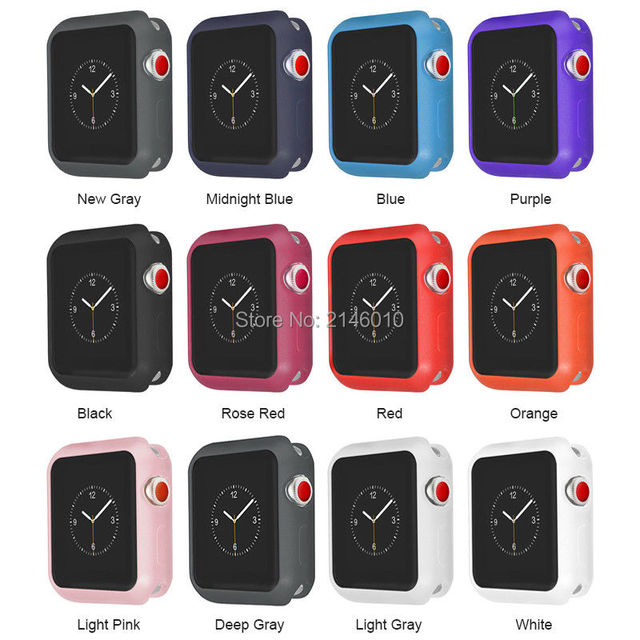 0f269e2e326 For Apple Watch 4 40mm 44mm iWatch Protective Cover TPU Bumper Frosted Case