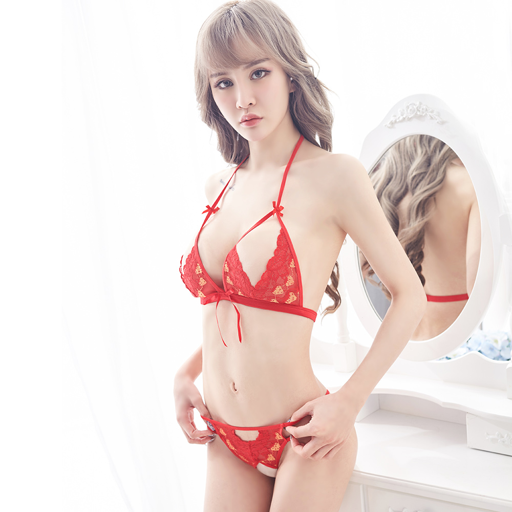 Translucent Bandage Lace Hollowing Out  Bra 2019 Sexy Lingerie Bra Set Intimates Ladies Underwear Set Lace Bra And Panty Set