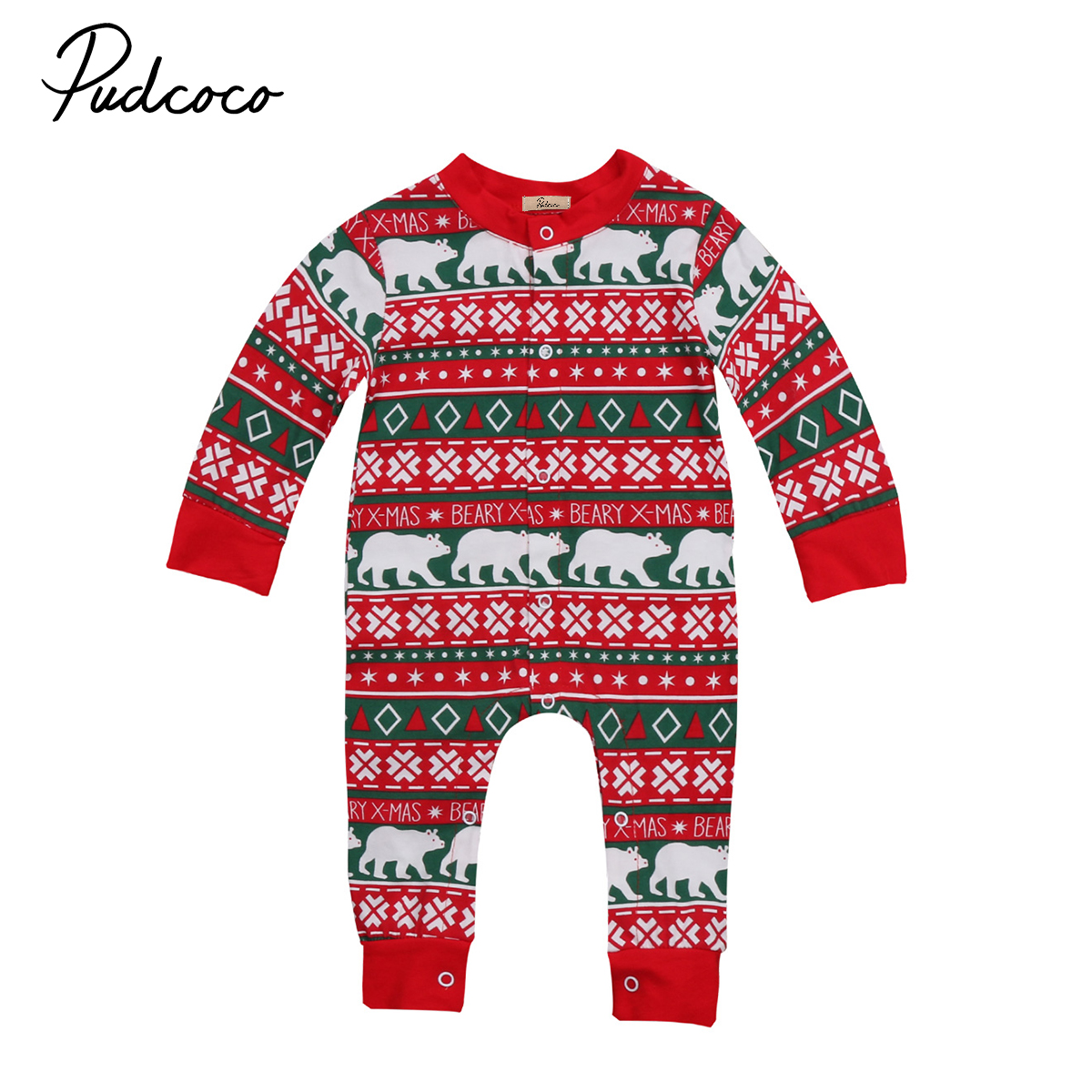 Babies Winter Xmas Romper Clothing Infant Baby Christmas Festivel Warm pjs Rompers Clothes Costume