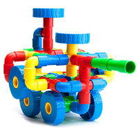 Baby Tunnel Toy Plastic Pipe Block Building Toy For Kid Multifunctional Pipe DIY Assembling Pipeline Block