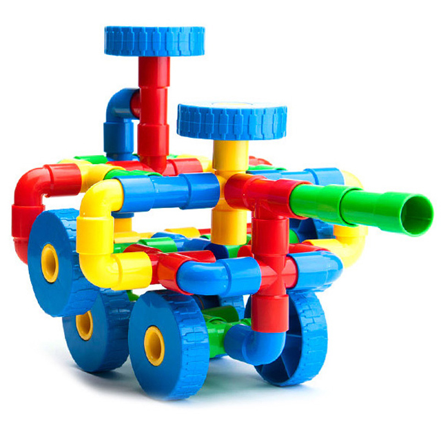 Building Toys For Babies : Baby tunnel toy plastic pipeline building block for