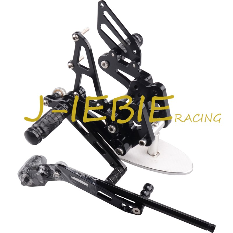 CNC Racing Rearset Adjustable Rear Sets Foot pegs For Suzuki GSXR 600 750 GSXR600 GSXR750 2006 2007 2008 2009 2010 K6 BLACK adjustable rider rear sets rearset footrest foot rest pegs gold for suzuki gsxr600 gsxr750 gsxr 600 750 2011 2012 2013 2014 2015