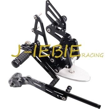 CNC Racing Rearset Adjustable Rear Sets Foot pegs For Suzuki GSXR 600 750 GSXR600 GSXR750 2006 2007 2008 2009 2010 K6 BLACK