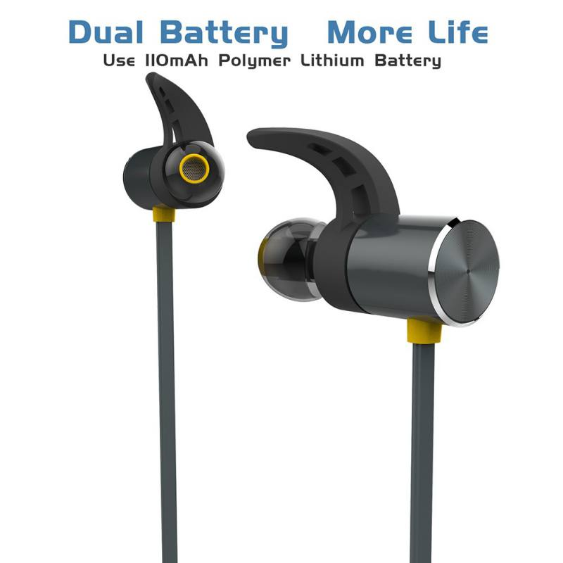 BX343 Wireless Headphone Bluetooth IPX5 Waterproof Earbuds Magnetic Headset Earphones With Microphone For Phone Sport