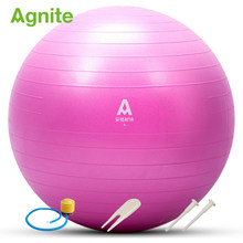 Agnite Yoga ball 65cm Pvc pilates ball for fitness F4172 Explosion-proof gymnastic ball balance for yoga exercise bosu fitball(China)