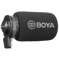 BOYA By A7H Mic 3.5Mm Jack Phone Microphone Digital Stereo Condenser Mobile Phone Record Microphone Port Recording Interview F