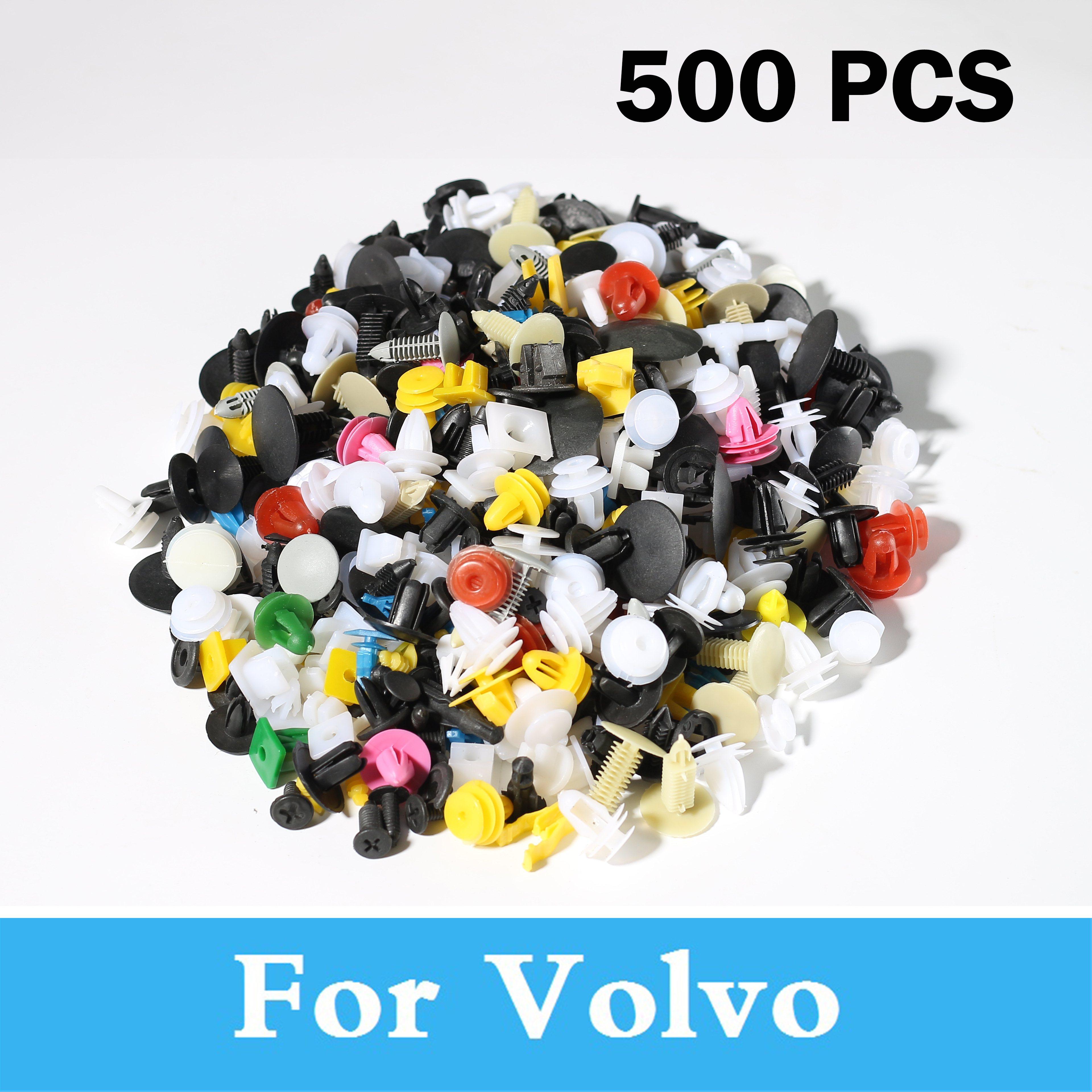 500 stücke Gemischt Auto Stoßstange Clips Verschluss Niet Tür Für Volvo S40 S60 S80 Xc90 C30 C70 V40 V50 V60 Kreuz Land V70 Xc60 Xc70