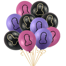 Air-Ball-Toys Party-Supplies Latex Helium Abusive-Decorations Bachelorette 10pcs Hen