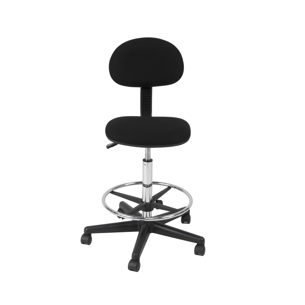 offex home office drafting chair black