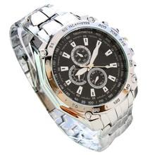#5001 Leisure High Quality Man Watch 2015 New  Three Eyes Six Steel Needle Fashion Men's  Business Watch