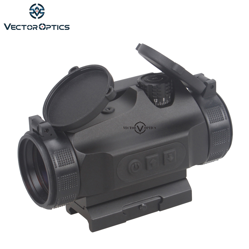 Vector Optics Nautilus Tactique 1x30 Rouge Dot Scope Sight Reflex Auto Lumière Sens avec Picatinny Montage Combo fit 21mm Rails