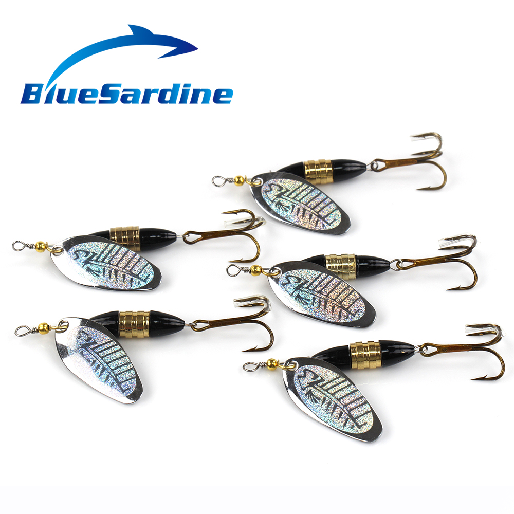 Bluesardine 5pcs 16 3g 8 5cm metal spinnerbaits fishing for Spinner fishing lures