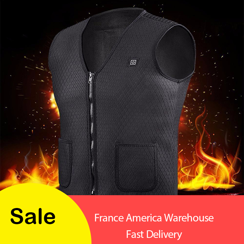 2018 New Men Women Electric Heated Vest Heating Waistcoat Thermal Warm Clothing Feather Hot Sale Winter Jacket Christmas Vest