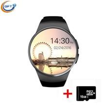 GFT KW18 Bluetooth smart uhr vollbild Unterstützung SIM TF Karte Smartwatch Phone Pulsmesser für IOS android wear