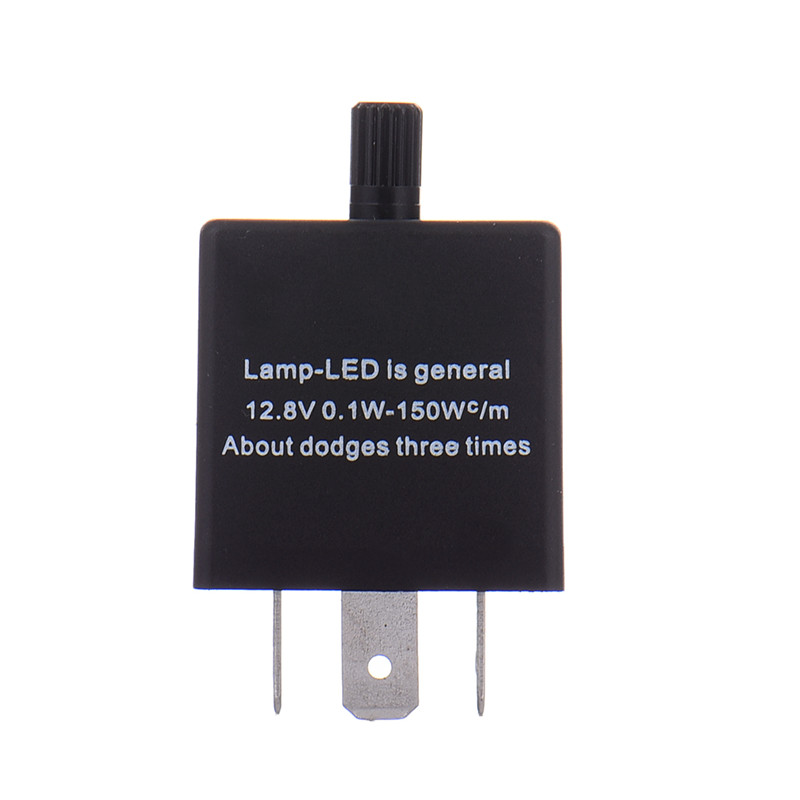 12V 24V 3-PIN Rel/é Intermitente LED Ajustable Intermitente Intermitente para Motocicleta Automotriz Rel/é Intermitente LED