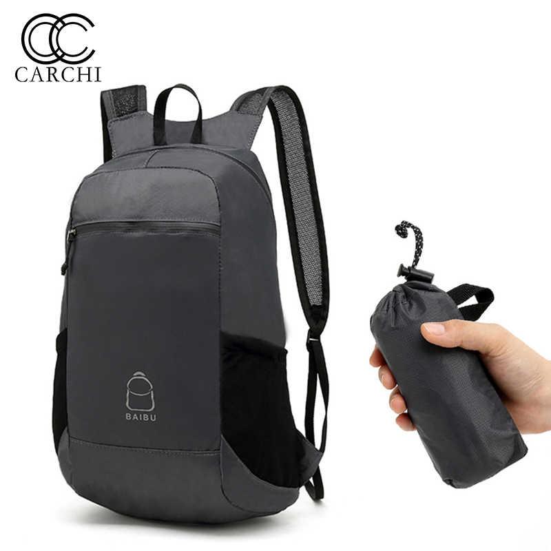 a9e7c8db7a4c CARCHI бренд человек рюкзак складная дорожная сумка рюкзак школьный  повседневное водостойкий мужской маленький удобный складной мини