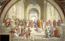 Large Figure Oil Painting for Living Room Wall Decor Art The School of Athens Italian Renaissance by Raphael Hand Painted