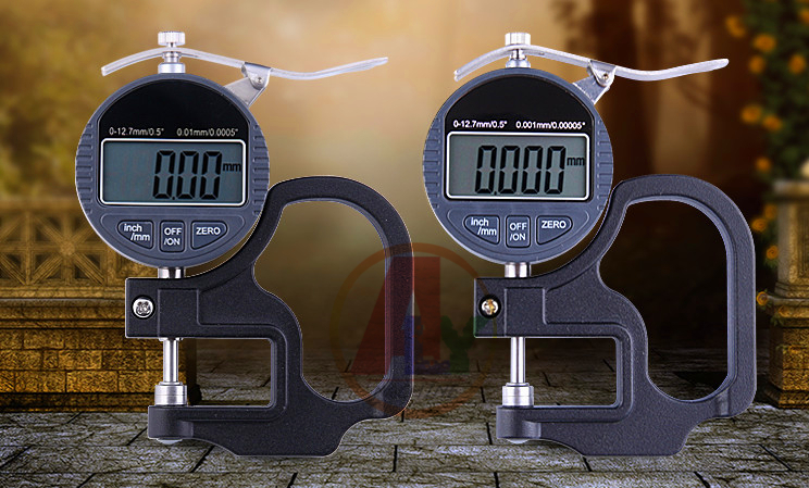 Digital display micrometer thickness gauge measurement tool for common rail injector shims common rail injector repair