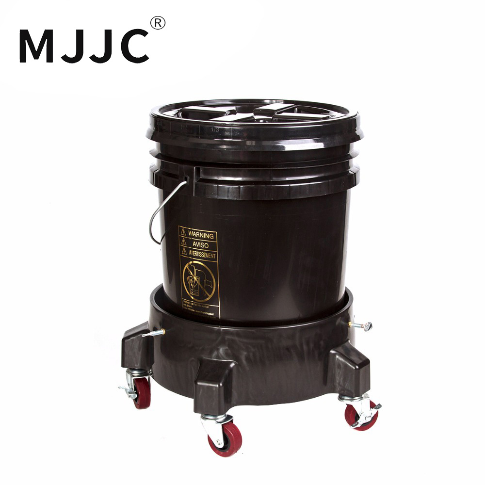 MJJC Brand with High Quality Detailing Kit of bucket dolly, 5 gallon bucket, Grit Guard, Wash Board and Gamma seal lid