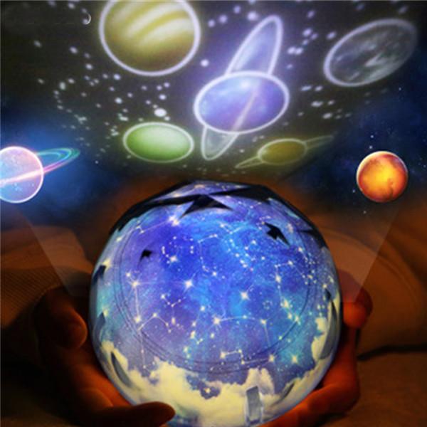 1PCs LED Night Light Starry Sky Magic Star Moon Planet Projector Lamp Cosmos Universe Baby Nursery Light Creative Gift