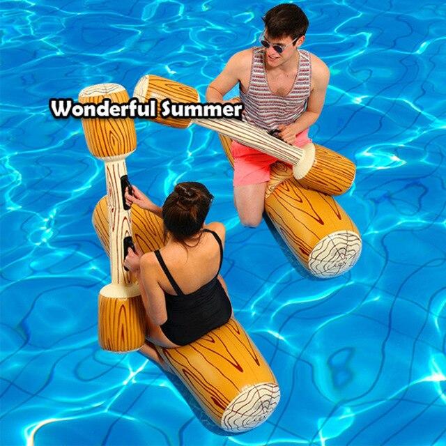 4 pièces/ensemble joute piscine flotteur jeu gonflable Sports nautiques pare-chocs ToysParty gladiateur radeau béquille Piscina, HA049
